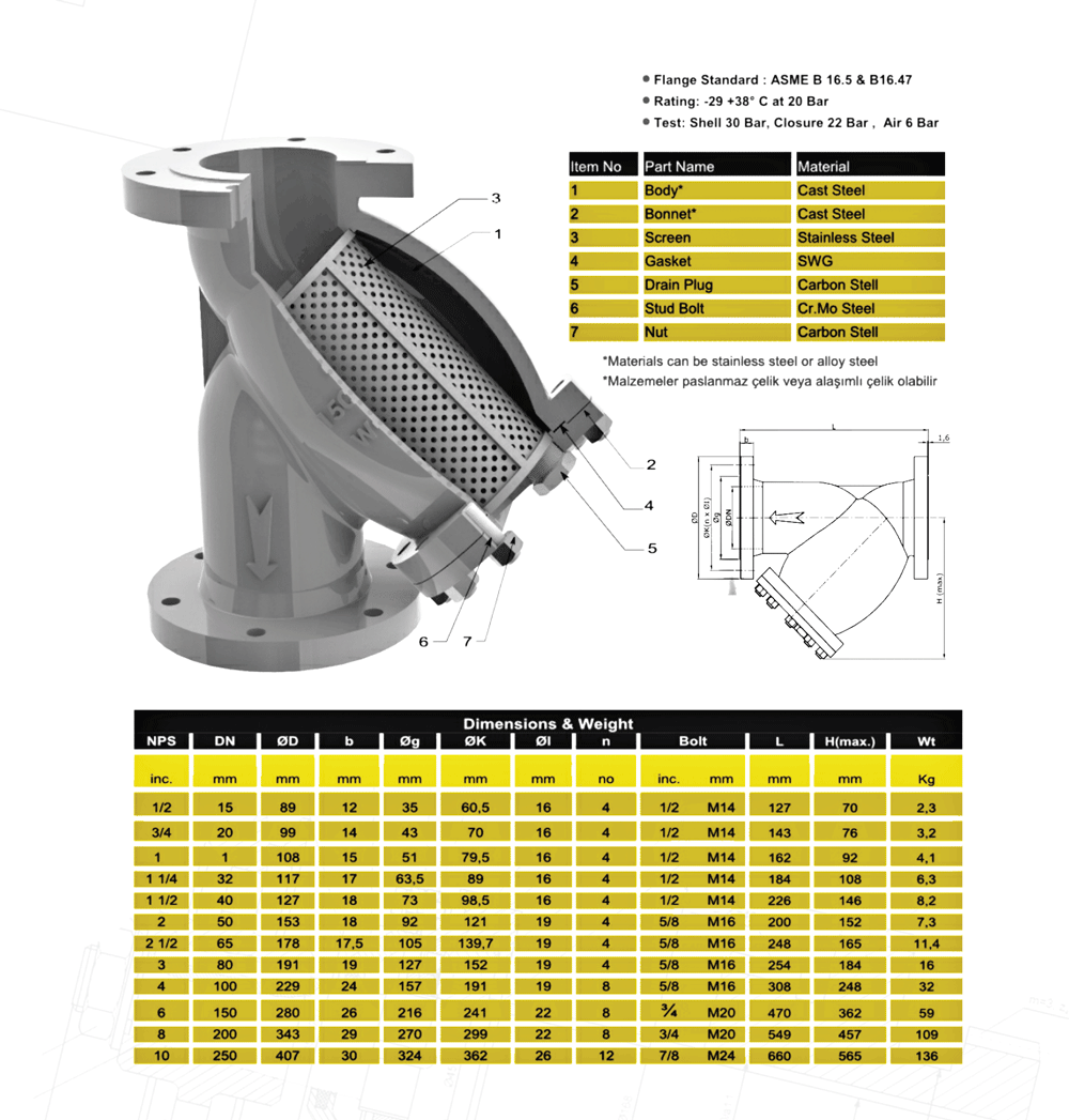 STRAINERS 150 CAST