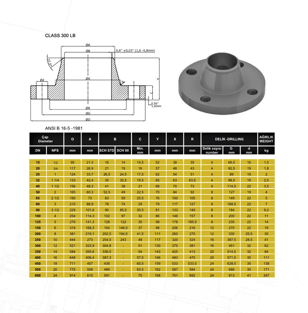 Welding-Neck-300LB