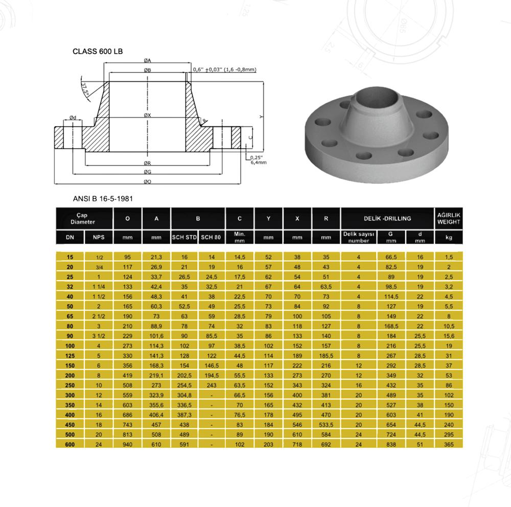 Welding-Neck-600LB