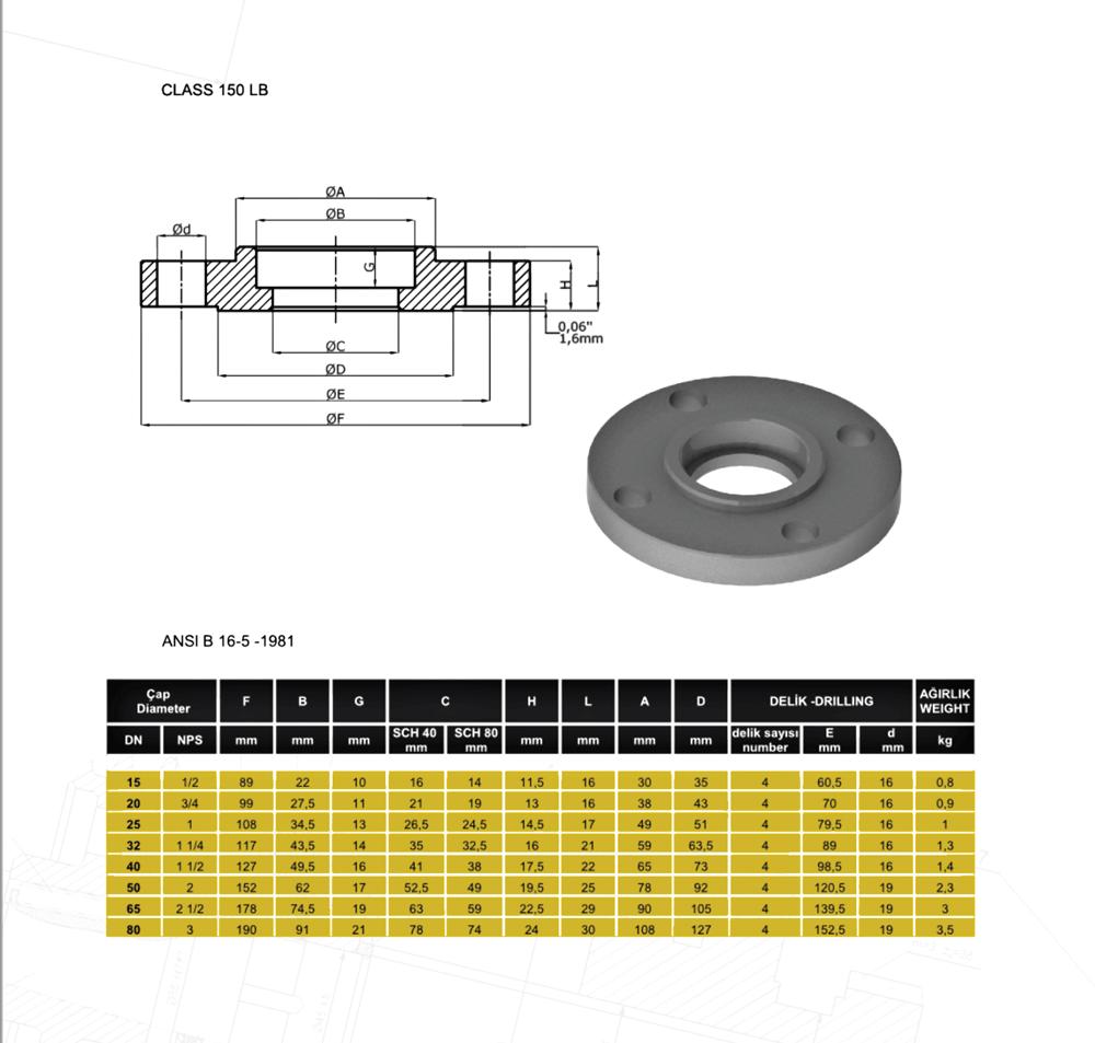 Socket-Flange-150LB